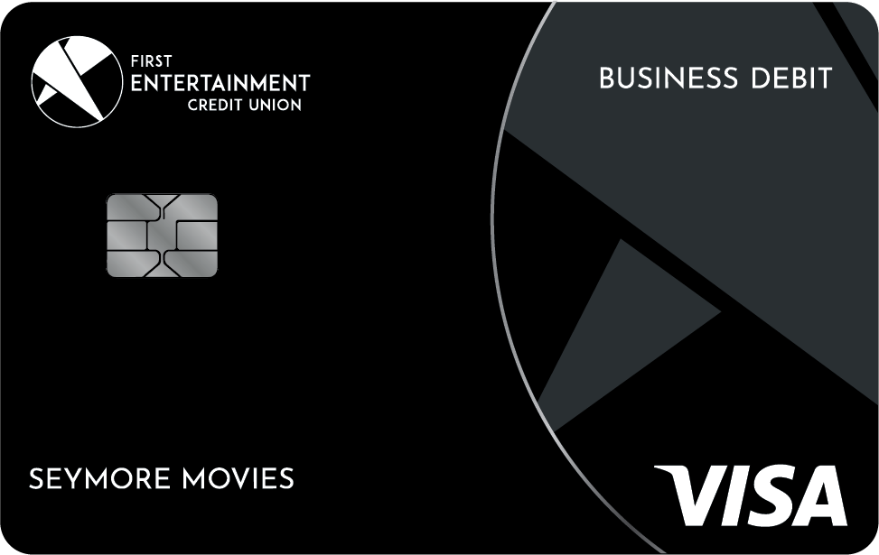 First Entertainment business debit card with EMV chip