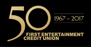 first entertainment credit union's 50th anniversary logo