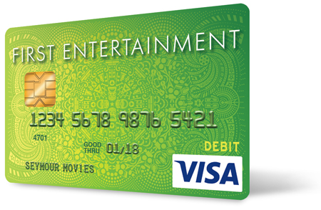 First Entertainment debit card with EMV chip