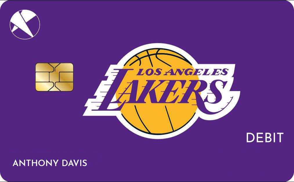 Lakers Debit Card Front