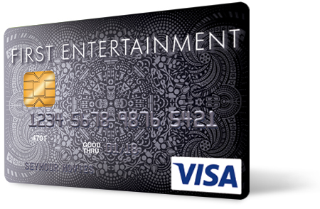 First Entertainment Visa Platinum Credit Card with Emv Chip