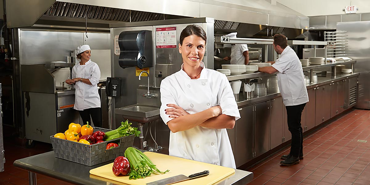 female catering business owner photo